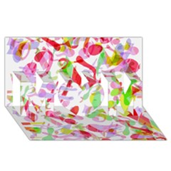 Summer Mom 3d Greeting Card (8x4)