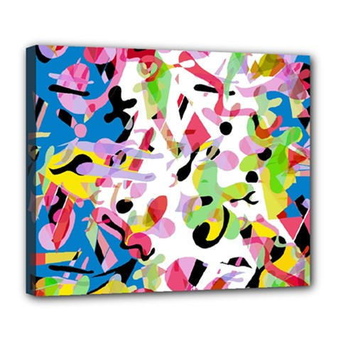 Colorful Pother Deluxe Canvas 24  X 20   by Valentinaart