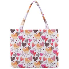 Colorful Cute Hearts Pattern Mini Tote Bag by TastefulDesigns