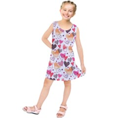 Colorful Cute Hearts Pattern Kids  Tunic Dress by TastefulDesigns