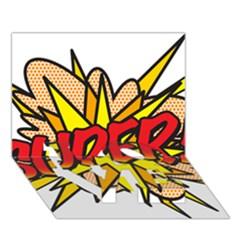 Comic Book Super! Love Bottom 3d Greeting Card (7x5) by ComicBookPOP