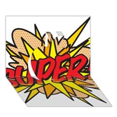 Comic Book Super! Apple 3d Greeting Card (7x5) by ComicBookPOP