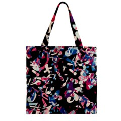 Creative Chaos Zipper Grocery Tote Bag by Valentinaart