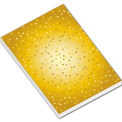 Gold Hearts Pattern Large Memo Pads by theimagezone
