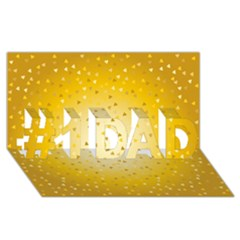 Gold Hearts Pattern #1 Dad 3d Greeting Card (8x4) by theimagezone
