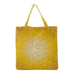 Gold Hearts Pattern Grocery Tote Bag by theimagezone