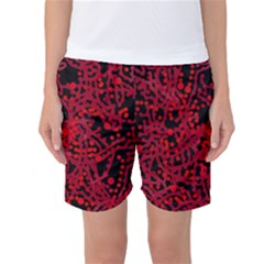 Red emotion Women s Basketball Shorts by Valentinaart