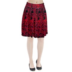 Red emotion Pleated Skirt by Valentinaart