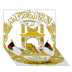 Emblem Of Afghanistan, 2004 2013 Heart 3d Greeting Card (7x5)