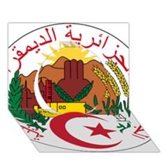 National Seal Of Algeria Circle 3d Greeting Card (7x5)