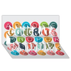 Alphabet Congrats Graduate 3D Greeting Card (8x4) by AnjaniArt