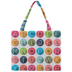 Alphabet Mini Tote Bag by AnjaniArt