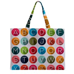 Alphabet Zipper Mini Tote Bag by AnjaniArt