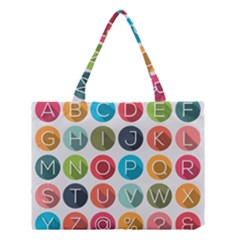 Alphabet Medium Tote Bag