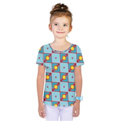 Shapes in squares pattern                                  Kids  One Piece Tee by LalyLauraFLM