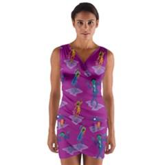 Zombie Pattern Wrap Front Bodycon Dress by AnjaniArt