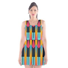 Shapes and stripes                                                                                                             Scoop Neck Skater Dress by LalyLauraFLM
