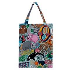 Alphabet Patterns Classic Tote Bag by AnjaniArt