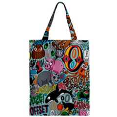 Alphabet Patterns Zipper Classic Tote Bag by AnjaniArt