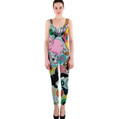 Alphabet Patterns Onepiece Catsuit by AnjaniArt