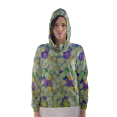 Paint Brushes                                                                                                              Hooded Wind Breaker (women) by LalyLauraFLM