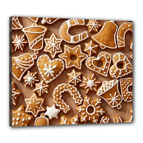 Christmas Cookies Bread Canvas 24  X 20  by AnjaniArt