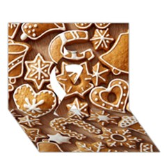 Christmas Cookies Bread Ribbon 3d Greeting Card (7x5)