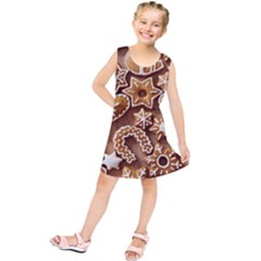 Christmas Cookies Bread Kids  Tunic Dress