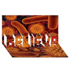 Chemical Biology Bacteria Bacterium Believe 3d Greeting Card (8x4)