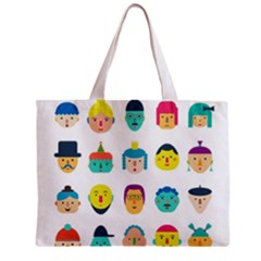 Face People Man Girl Male Female Young Old Kit Zipper Mini Tote Bag by AnjaniArt