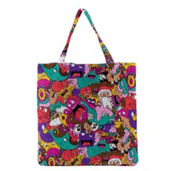 Face Grocery Tote Bag