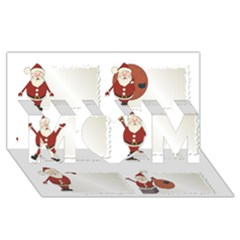 Images Natale Pinterest Christmas Clipart Reindeer Mom 3d Greeting Card (8x4)
