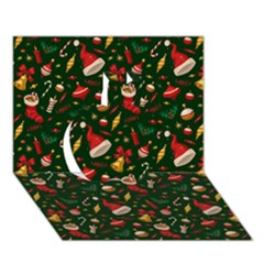 Hat Merry Christmast Apple 3d Greeting Card (7x5)