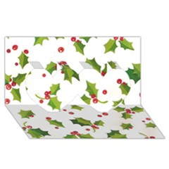 Images Paper Christmas On Pinterest Stuff And Snowflakes Twin Hearts 3d Greeting Card (8x4) by AnjaniArt