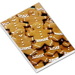 Gingerbread Men Large Memo Pads by AnjaniArt