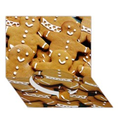 Gingerbread Men Circle Bottom 3d Greeting Card (7x5) by AnjaniArt
