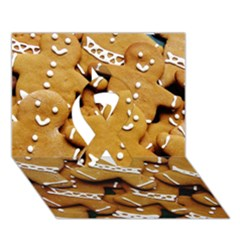 Gingerbread Men Ribbon 3d Greeting Card (7x5) by AnjaniArt