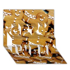 Gingerbread Men Get Well 3d Greeting Card (7x5) by AnjaniArt