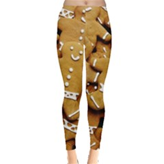 Gingerbread Men Leggings  by AnjaniArt