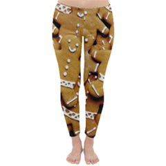 Gingerbread Men Classic Winter Leggings by AnjaniArt