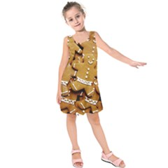 Gingerbread Men Kids  Sleeveless Dress