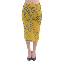 Burst Midi Pencil Skirt by momoswave