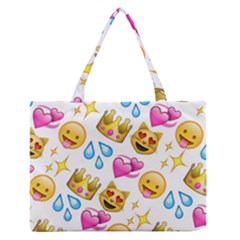King Cat Smile Water Love Christmast Medium Zipper Tote Bag by AnjaniArt