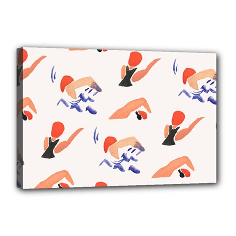 Olympics Swimming Sports Canvas 18  X 12  by AnjaniArt