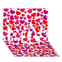 Love Pattern Wallpaper Boy 3d Greeting Card (7x5) by AnjaniArt