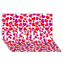 Love Pattern Wallpaper Best Bro 3d Greeting Card (8x4) by AnjaniArt