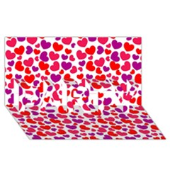 Love Pattern Wallpaper Party 3d Greeting Card (8x4) by AnjaniArt
