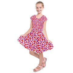 Love Pattern Wallpaper Kids  Short Sleeve Dress by AnjaniArt