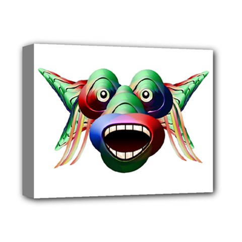 Futuristic Funny Monster Character Face Deluxe Canvas 14  X 11  by dflcprints