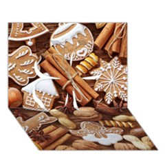 Nuts Cookies Christmas Clover 3d Greeting Card (7x5)